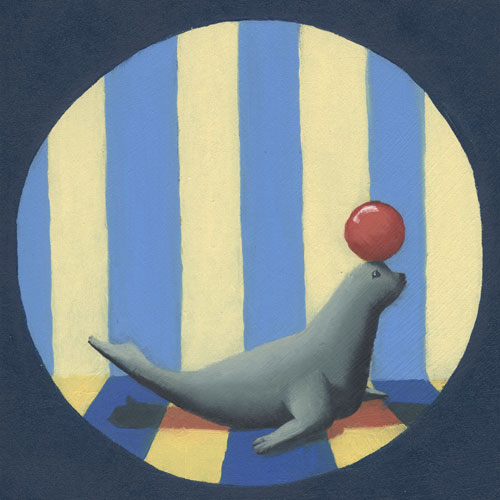 Circus Seal by Oopsy daisy