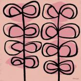 Modern Vines, Pink by Oopsy daisy