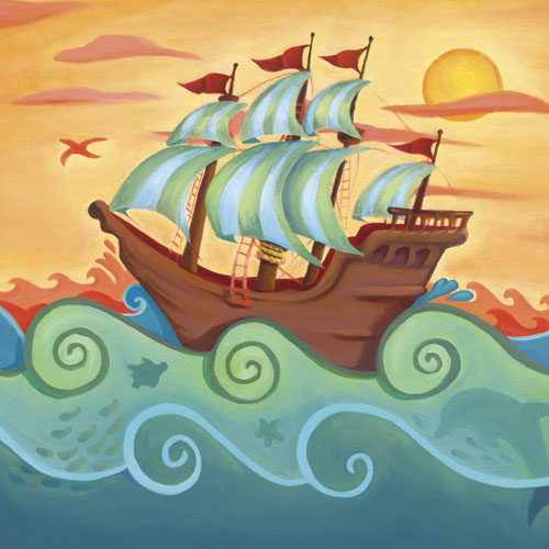 Pirate Ship by Oopsy daisy