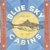 Blue Sky Cabins by Oopsy daisy