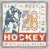 Hockey Game Ticket by Oopsy daisy