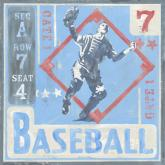 Baseball Game Ticket by Oopsy daisy