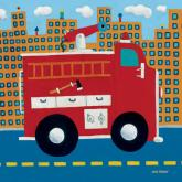 Fire Truck by Oopsy daisy