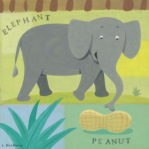 Nutty Elephant by Oopsy daisy