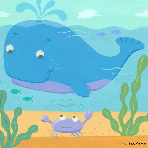 Whale & Crab by Oopsy daisy