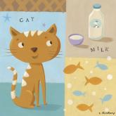 The Cat Takes Milk by Oopsy daisy