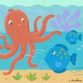 Octopus & Fish by Oopsy daisy