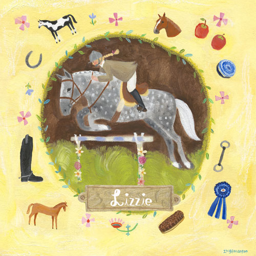 Personalized Equestrian Champion on Yellow