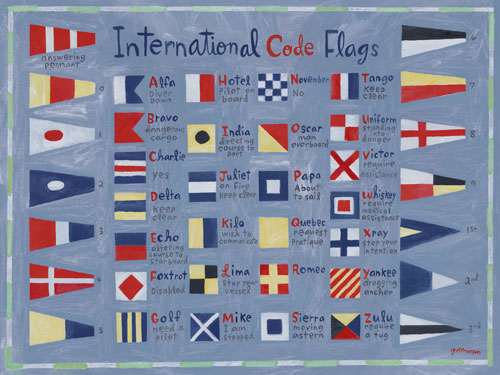 Nautical Flags by Oopsy daisy