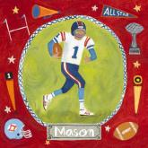 Personalized Football Star - Boy by Oopsy daisy