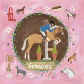 Personalized Equestrian Champion on Pink