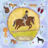 Personalized Equestrian Champion on Lavender