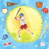 Baseball Star - Girl by Oopsy daisy