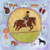 Equestrian Champion on Lavender by Oopsy daisy