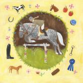 Equestrian Champion on Yellow by Oopsy daisy