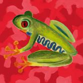 Red Camo Frog by Oopsy daisy