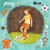 Soccer Star - Girl by Oopsy daisy