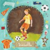 Personalized Soccer Star - Girl by Oopsy daisy