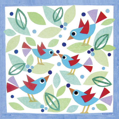 Birds & Blueberries by Oopsy daisy