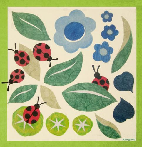 Leaves and Ladybugs by Oopsy daisy