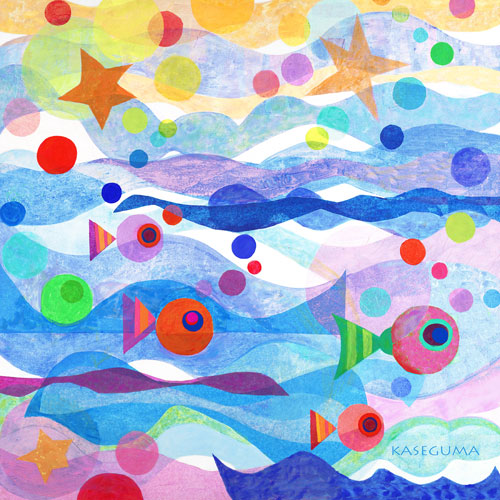 Starry Sea by Oopsy daisy