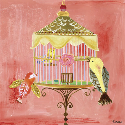 Rose Birdcage by Oopsy daisy