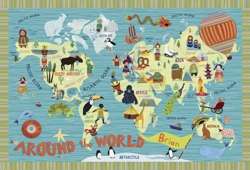 Around the World by Oopsy daisy, Personalized