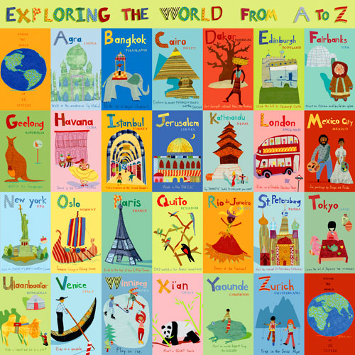 Exploring the World From A-Z by Oopsy daisy