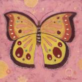 Pink Peace Butterfly by Oopsy daisy