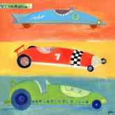 Vroom Vroom Race Cars by Oopsy daisy