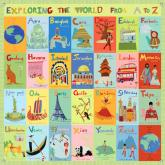 Exploring the World From A-Z Childs' Mural by Oopsy daisy