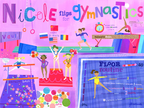 Personalized Flipping for Gymnastics by Oopsy Daisy