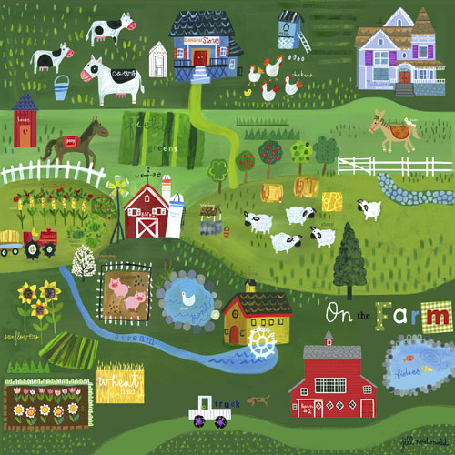 On the Farm by Oopsy daisy