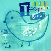 Turquoise Bird by Oopsy daisy