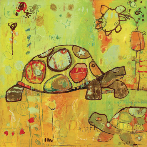 Hello Turtles by Oopsy daisy