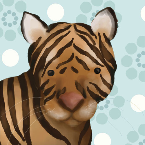 Aaron the Tiger, Powder Blue by Oopsy daisy