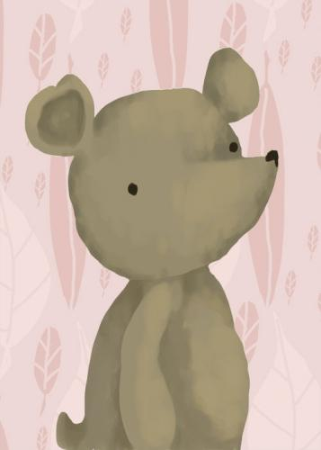 Barrington the Bear, Powder Pink by Oopsy daisy