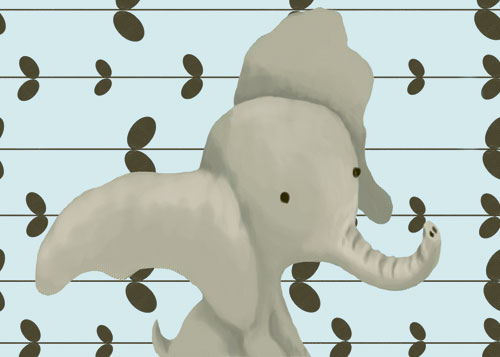 Edison the Elephant, Powder Blue by Oopsy daisy