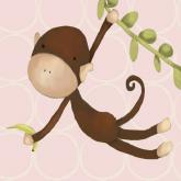 Hanging Monkey, Powder Pink by Oopsy daisy