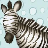 Timmy the Zebra, Powder Blue by Oopsy daisy