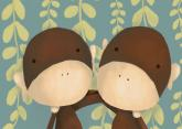 Two of a Kind Monkeys by Oopsy daisy