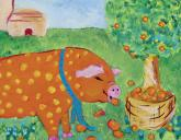 Orange Oink by Oopsy daisy