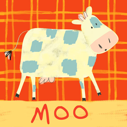 Cow Says Moo by Oopsy daisy