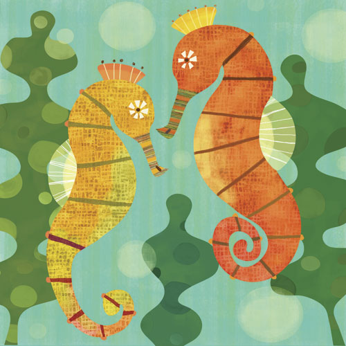 Seahorse Pals by Oopsy daisy