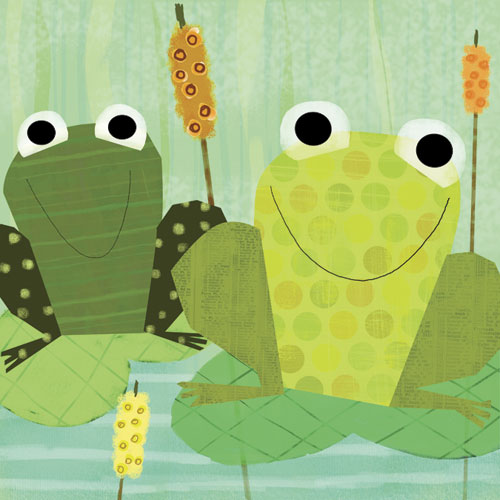 Friendly Frogs by Oopsy daisy