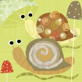 Swirly Snails by Oopsy daisy