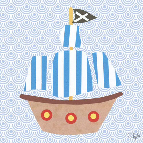 Collage Pirate Ship by Oopsy daisy