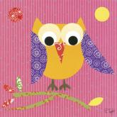 Mod Owl on Pink by Oopsy daisy