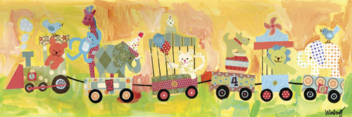 Circus Train by Oopsy daisy