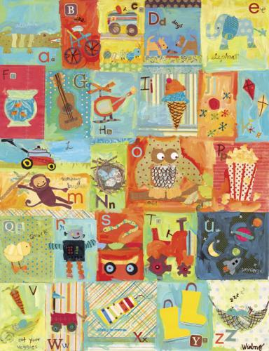 Favorite Things Alphabet, Boy by Oopsy daisy
